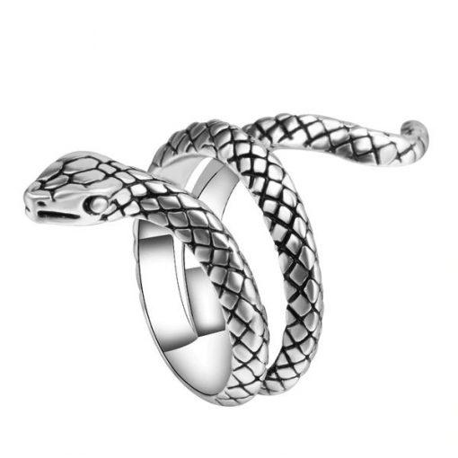 Bague Serpent Enroulée Simple Argentée jolie