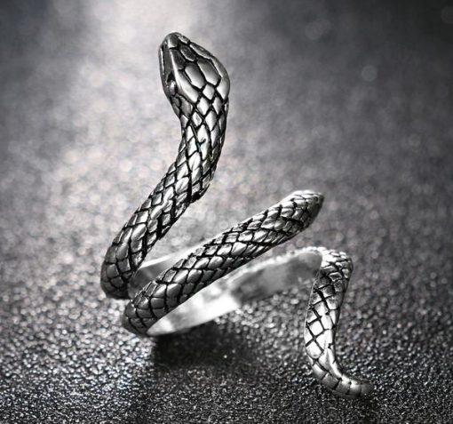 Bague Serpent Enroulée Simple Argentée prix