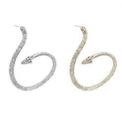 Boucles d'oreilles serpent Boa enroulé argent or