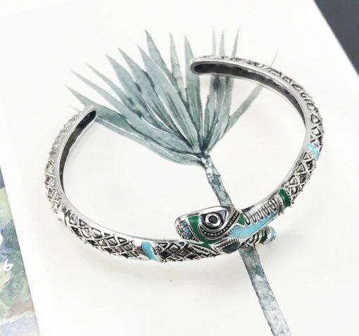 Bracelet Serpent Argent Amazonie Mystique acheter