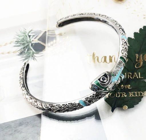 Bracelet Serpent Argent Amazonie Mystique femme