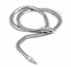 Collier Serpent Intégral avec Cristaux argent