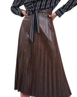 Jupe SErpent imprimée plissé longue femme achat