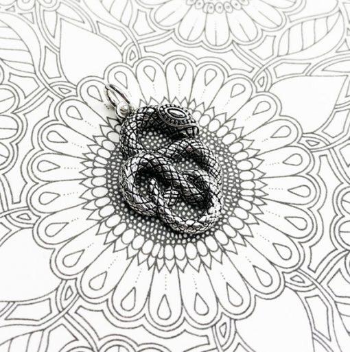 Pendentif Serpent Argent Esprit de Sagesse pas cher