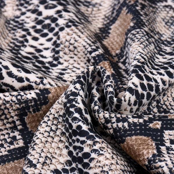 Robe Imprimée Serpent Moulante Tissu