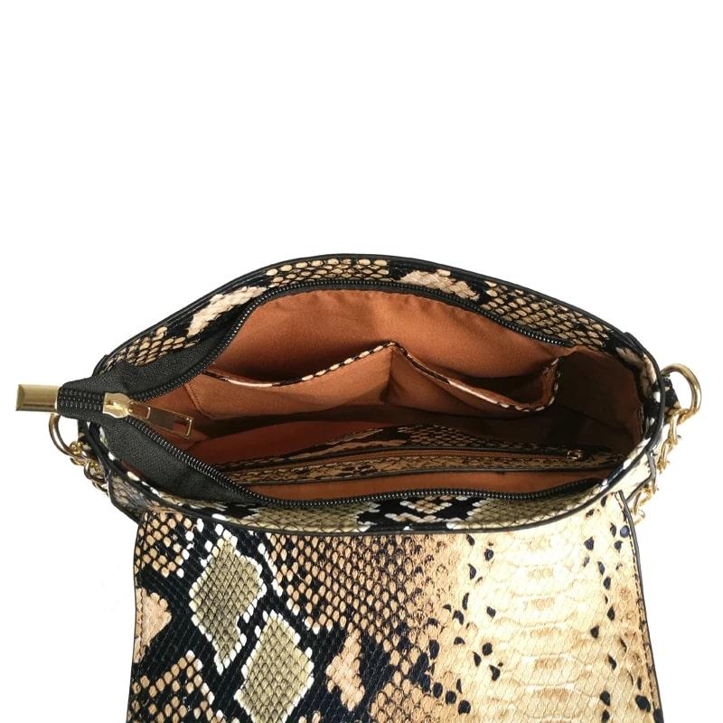 sac à main serpent imitation Python femme intérieur