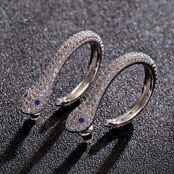 Boucles d'Oreilles Serpent Classiques Yeux Bleus achat