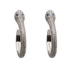 Boucles d'Oreilles Serpent Classiques Yeux Bleus acheter
