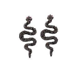 Boucles d'Oreilles Serpent Gothiques Noires pas cher
