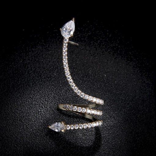 Boucles d'Oreilles Serpent Luxe Strass achat