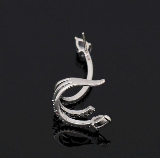 Boucles d'Oreilles Serpent Luxe Strass bijoux