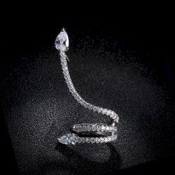 Boucles d'Oreilles Serpent Luxe Strass qualité prix