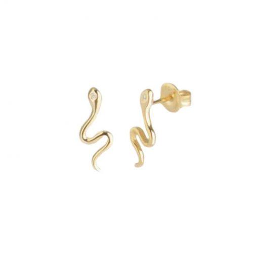 Boucles d'Oreilles Serpent Petites Argent 925 cadeaux