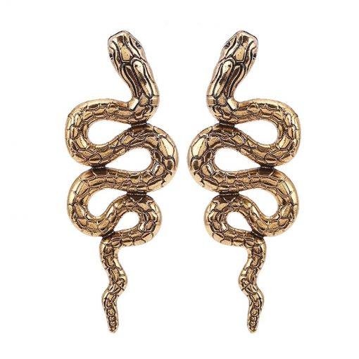Boucles d'Oreilles Serpent Python Vintage qualité prix