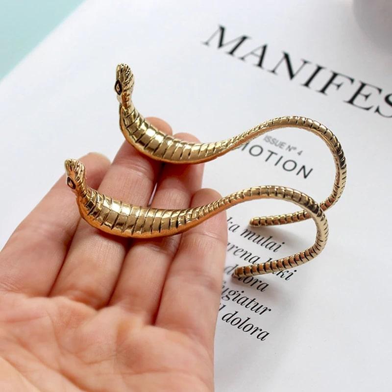 Boucles d'Oreilles Serpent Vintage Longues achat