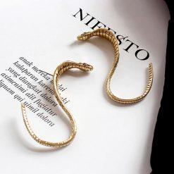 Boucles d'Oreilles Serpent Vintage Longues pas cher