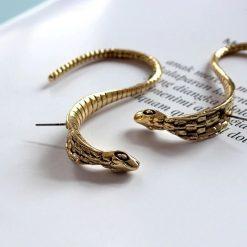 Boucles d'Oreilles Serpent Vintage Longues qualité prix