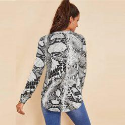 T-shirt Serpent Elegant Manches Longues qualité prix