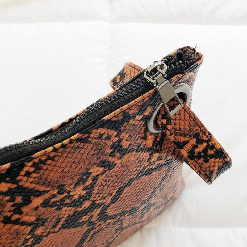 sac à main serpent Pochette avec Dragonne fermeture
