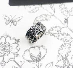 Bague Serpent Peau Ecaille Diamant Femme