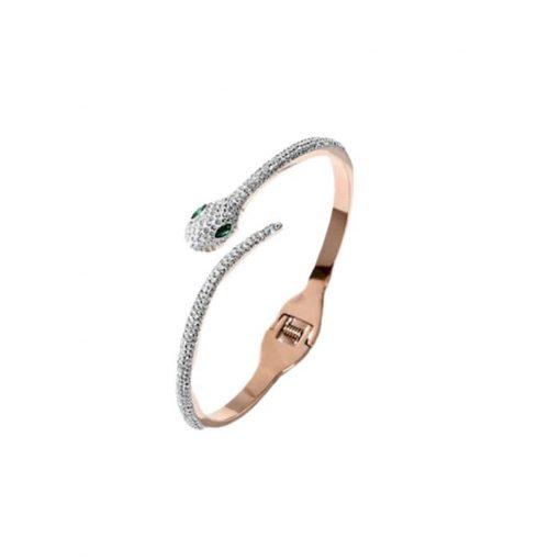 Bracelet Serpent Brillant Yeux Verts acheter