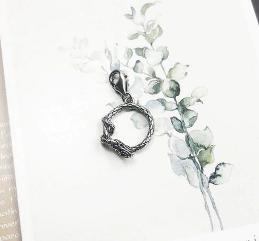 Pendentif Serpent Anneau en Argent acheter