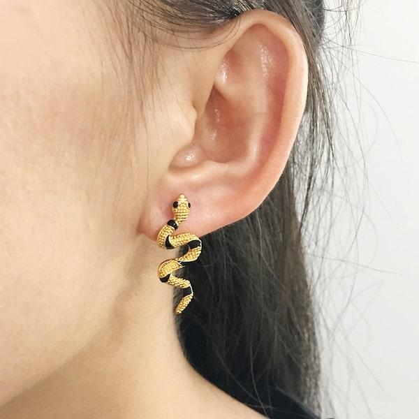 Boucles D'oreilles Rayures Noires acheter