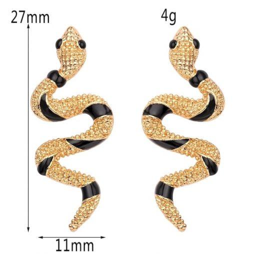 Boucles D'oreilles Rayures Noires dimensions
