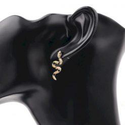 Boucles D'oreilles Rayures Noires pas cher