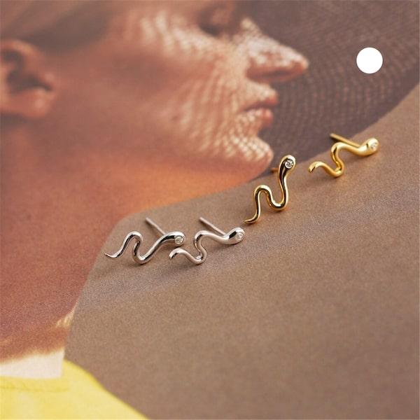 Boucles D'oreilles Serpent Yeux Diamant pas cher acheter