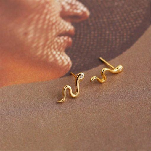 Boucles D'oreilles Serpent Yeux Diamant pas cher sexy