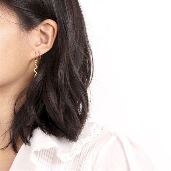 Boucles D'oreilles Pendantes en Argent belles