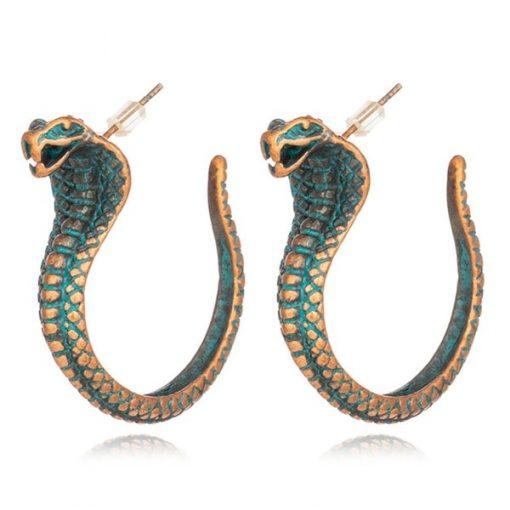 Boucles d'Oreilles Serpent Cobra Vintage acheter