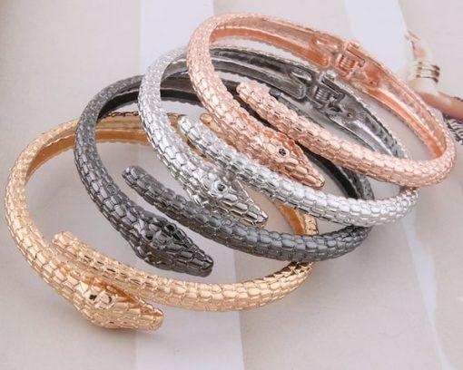 Bracelets Serpent Ouvert Métal Or acheter