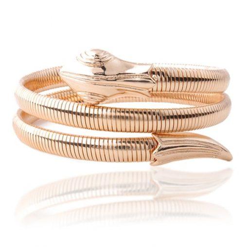 Bracelets Serpent Torsadé extensible or