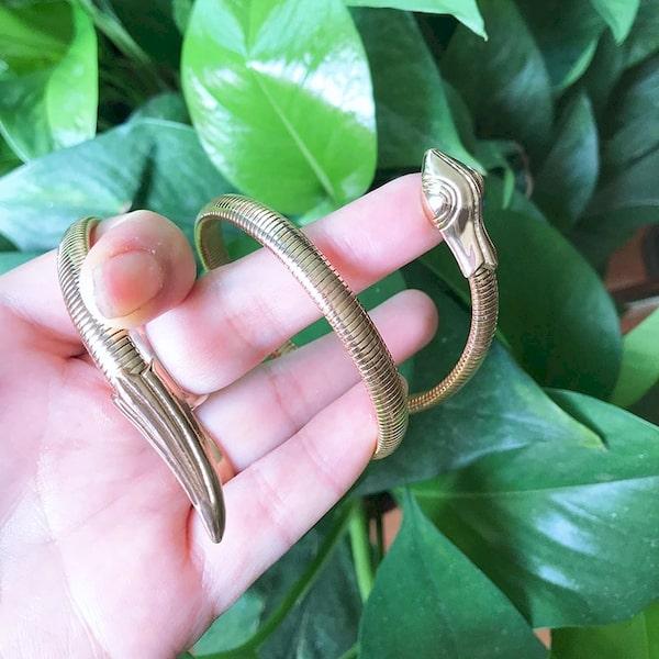 Bracelets Serpent Torsadé extensible or pas cher