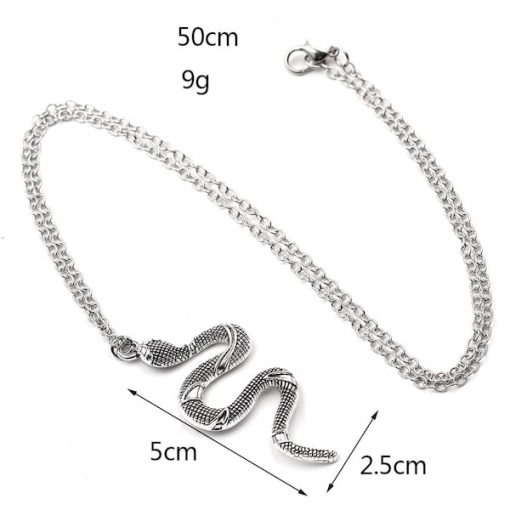 Colliers Serpent Style Neo Gothique Dimensions