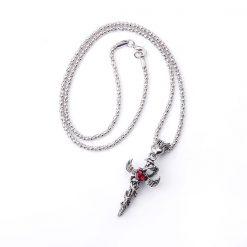 Colliers Serpent Volant Coeur Rubis pas cher beau
